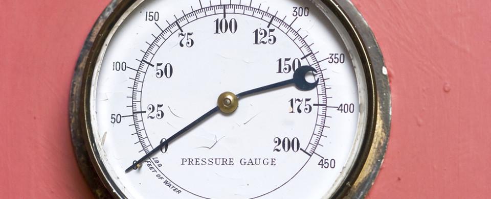 Victorian Pressure Gauge.