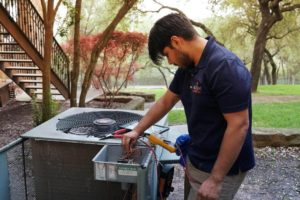 worker providing ac services in Travis county, TX